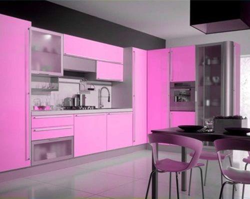 Modern Pink Kitchen Design With Images Pink Kitchen Designs