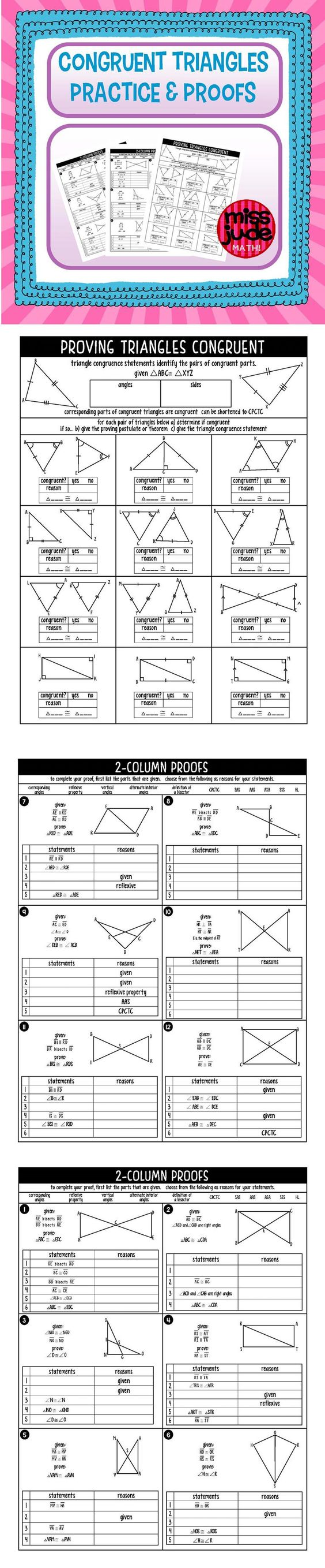 proofs involving congruent triangles worksheet answer key congruent triangles practice and. Black Bedroom Furniture Sets. Home Design Ideas