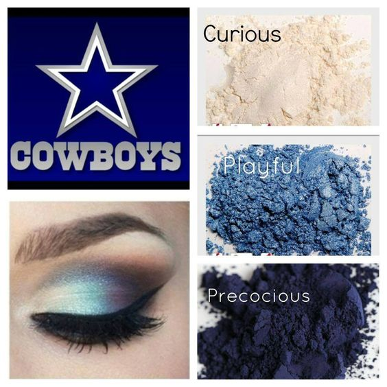 Look your best on game day and support the Dallas Cowboys with these fabulous Younique Pigments and 3D Fiber Lash!