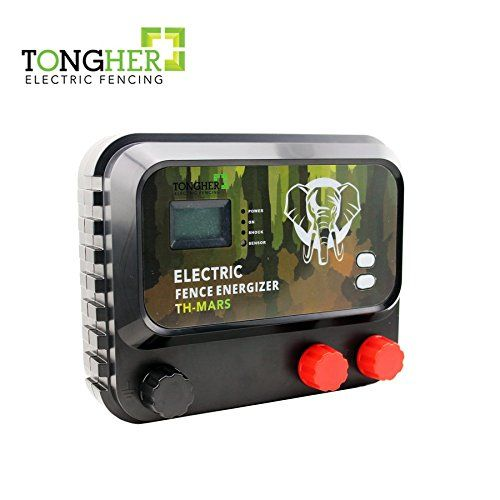 Tongher Low Impedance 110 120 Volt 40km 12 Joules Range Electric Fence Charger Green Lawn Garden Store Fence Charger Electric Fence Electric Fence Chargers