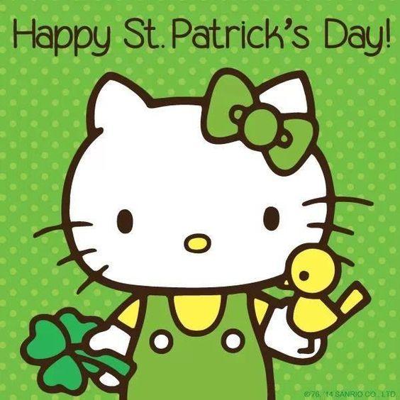 Happy St Patricks Day hello kitty