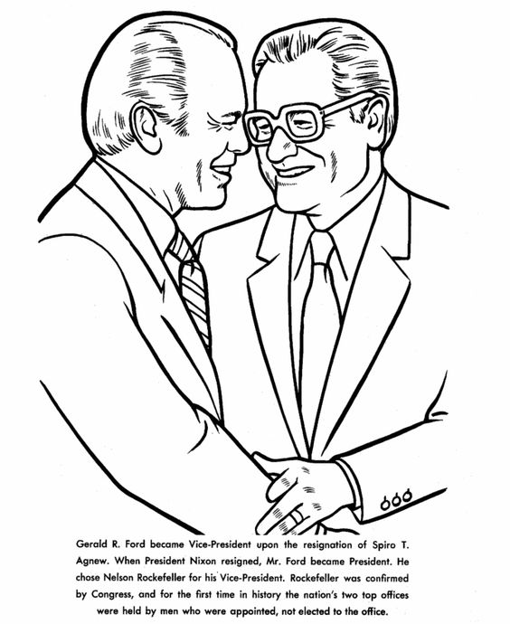 Gerald ford coloring page cold war era 1950s 1980s for Cold war coloring pages