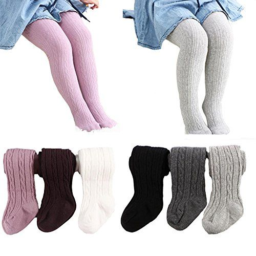 Baby Girl Stockings Tights Infant Toddler Pantyhose Cotton Warm Leggings Pants 4 Pack