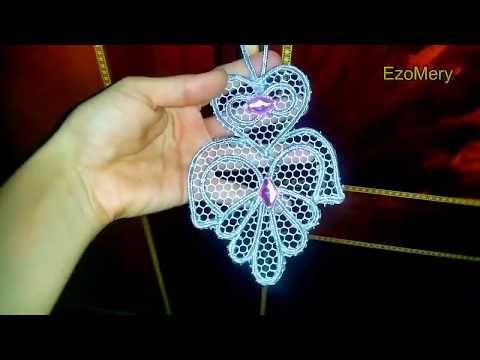 طريقة صنع مفيتحات علاقة مفاتيح الخزانة للعرايس بالسوتاج روووعة مشروع مصغر Youtube Floral Rings Floral Jewelry