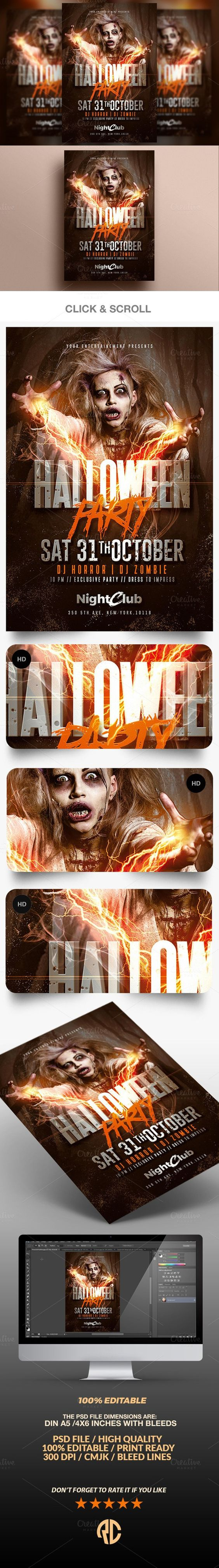 Halloween Party Zombie Flyer – Zombie Flyer Template