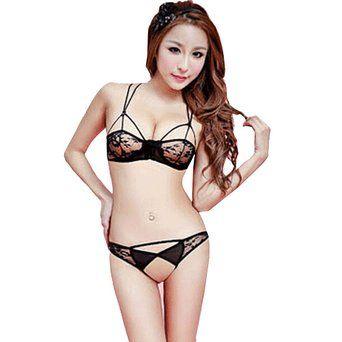 Hot Womens Sexy Lingerie Set Lace Underwear Floral Fishnet Babydoll Sleepwear