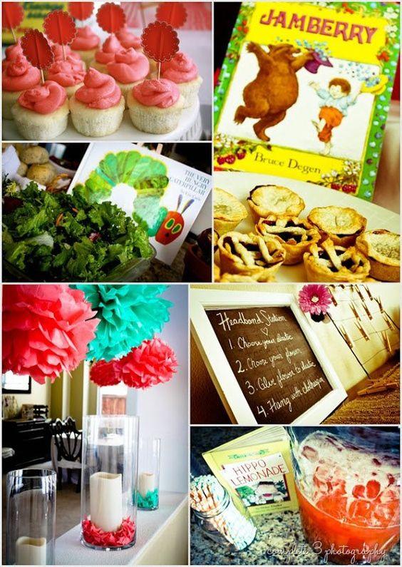 children 39 s book themed baby shower liz 39 s baby shower pinterest