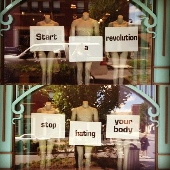 Love your body. #revolution #nashville  Easier said than done, but thinks can change.