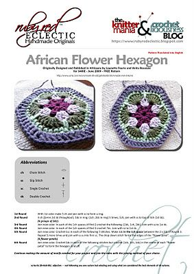 Free Crochet Patterns In South Africa : African flowers, Hexagon crochet and Hexagons on Pinterest
