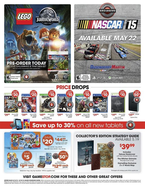 Save $30 on new copies of Grand Theft Auto V! Details and more in our #WeeklyAd! http://bit.ly/GameStopWeeklyAd …