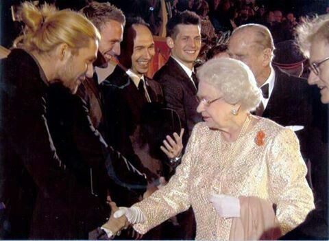 David Garrett meets the Queen