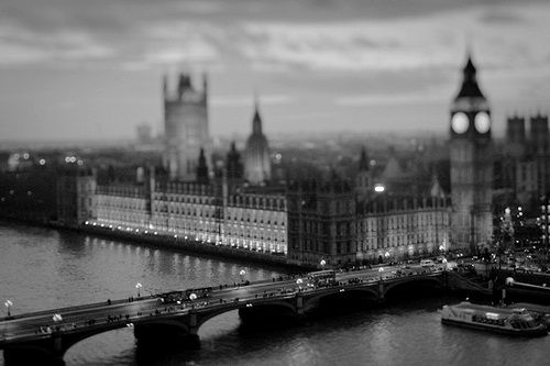 London | black and white