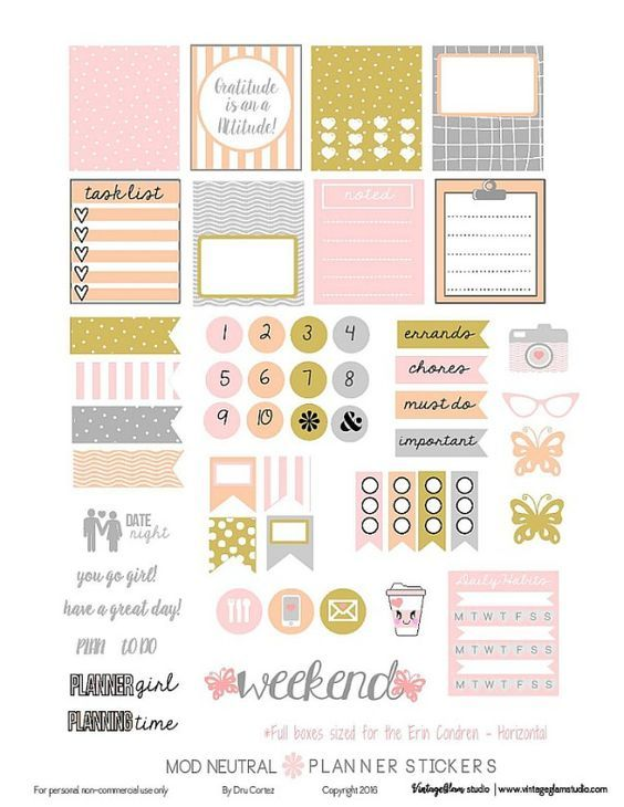25 Free Pdf Planner Printable Stickers That Ll Make Your Bullet