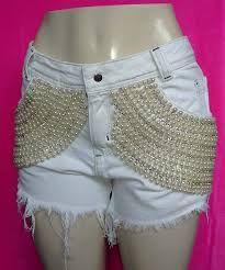 Resultado de imagem para shorts customizados pérolas