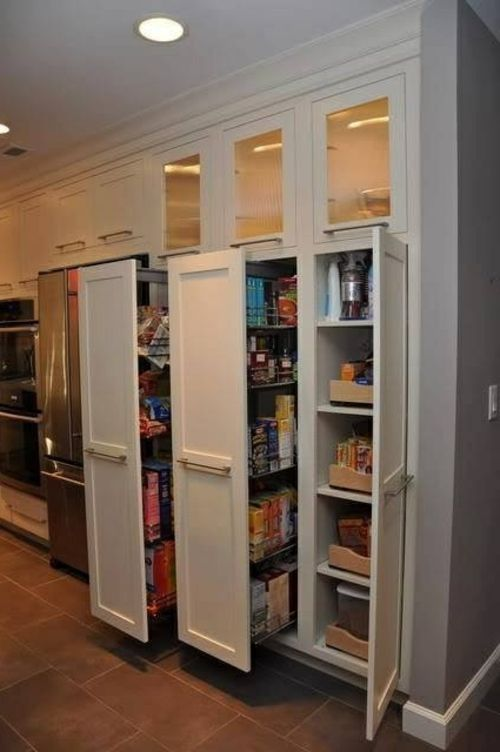 Hidden kitchen kitchen storage and organizing ideas on for Hidden kitchen storage ideas