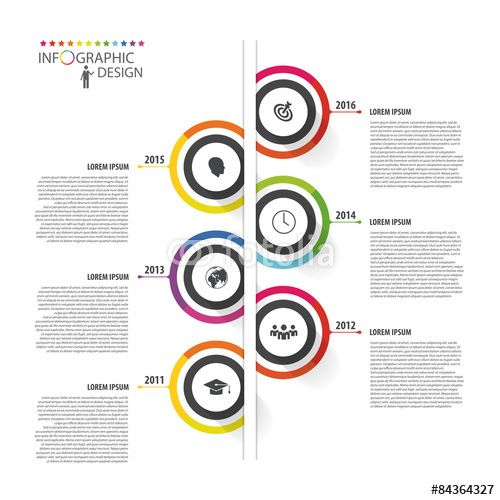 Vector: Abstract timeline infographic template. Vector ...