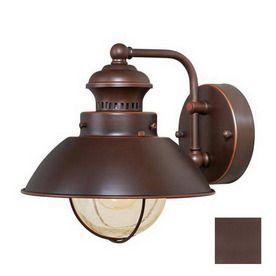 Cascadia lighting nautical 8 in h burnished bronze outdoor for Nautical light fixtures bathroom