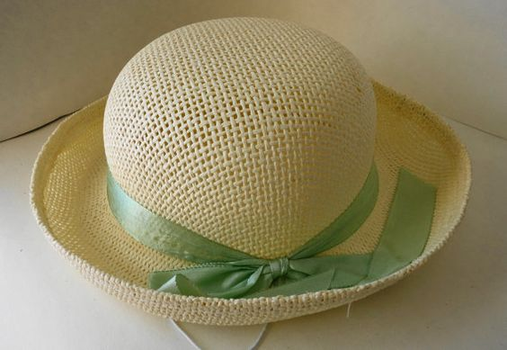 Dress up http://www.etsy.com/listing/176139323/vintage-woven-molded-straw-hat-easter