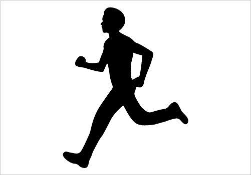 Running Boy Silhouette Graphics