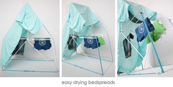 超薄型可摺疊式曬衣屋