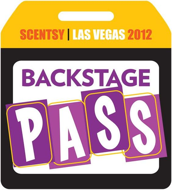 Backstage pass so EVERYONE can see/know what's going on at convention!  WOOT!