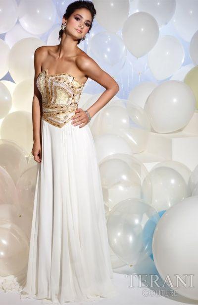 Terani P613 Dress #prom #strapless #white - MackTak Mart    http://macktakmart.com/designer-index/terani-couture/terani-prom/terani-p613.html