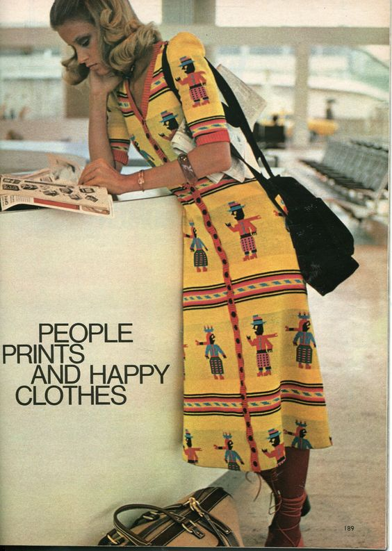Vintage 1971 Alley Cat by Betsey Johnson 'Happy People' Dresses || Finnfemme Blog: