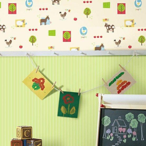 Combinação papéis de parede quarto meninos httppapeldeparedeonlinecom201