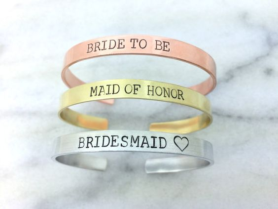 $24 maid of honor gift, custom bracelet cuff, stamped bracelet, cuff bracelet, gift under 20, bridesmaid gift, bachelorette favors