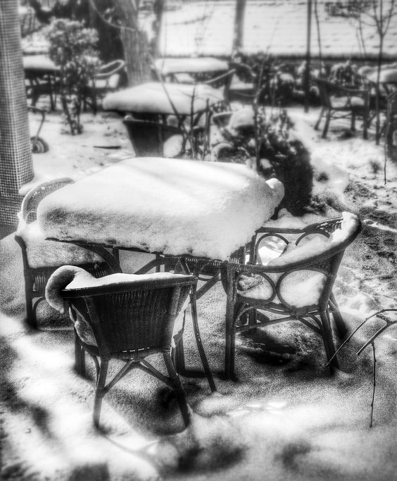 Table in snow
