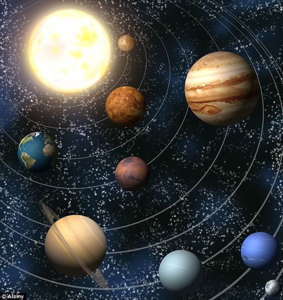 what causes the planets and moons in our solar system to orbit the sun - photo #26