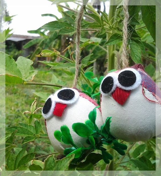 Free shipping couple of owls  pink violet by thujashop on Etsy