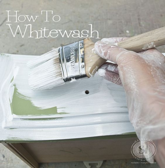 How to whitewash furniture... Good Tutorial with recipe chart!