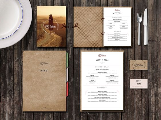 palate italian cafe menu design on behance restaurant menu design - Restaurant Menu Design Ideas