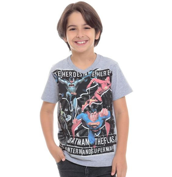 Camiseta infantil Liga da Justiça | Camisetas | De Mulher Para Mulher, Marisa