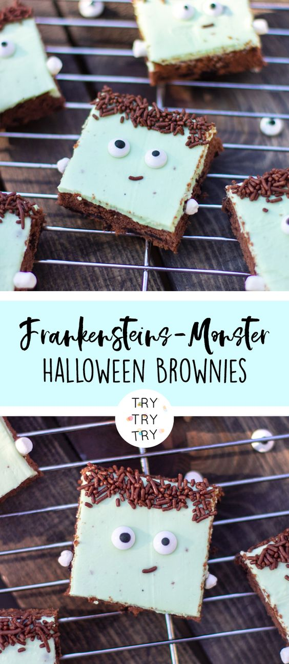 Frankensteins-Monster Halloween-Brownies