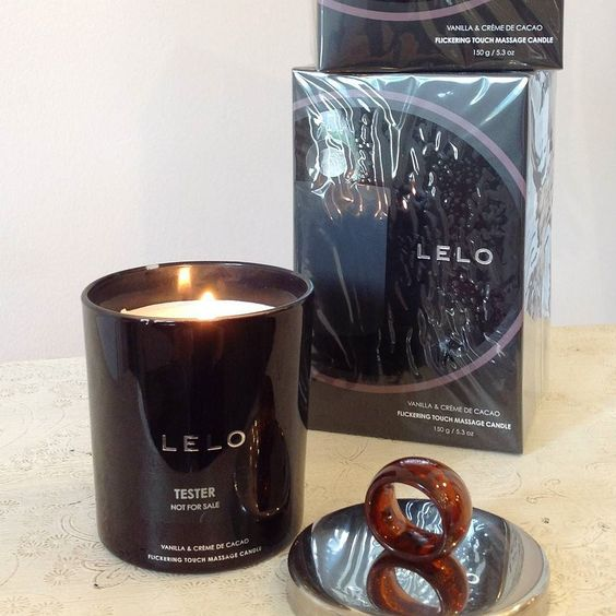 Lelo's massage candle is available at The Little Drawer.  Simply burn the candle for up to 30 minutes then extinguish the flame and use the oil to massage and nourish your skin.  It's a great way to pamper yourself or a romantic gift idea for your partner. #relax #soycandle #massagecandle #tldfairhope