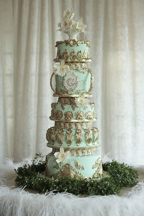 Oliver & Dinah's Cake -- minus the flowers pictured.
