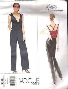 Jumpsuit Sewing Pattern 2158 Vogue Size 12 16 Bust 34 38 26 5 30 Hip 39 40 Uncut   eBay