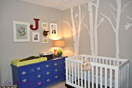 Cobalt blue painted dresser - yes please! #nursery
