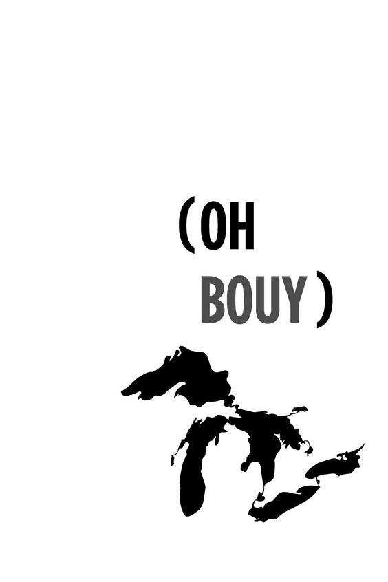 Oh Buoy, Michigan Great Lakes Poster. $30.00, via Etsy. | Our ...
