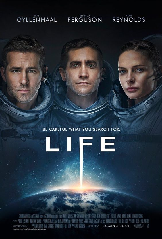 Life Movie Poster with jake GyllenhaalRebecca Ferguson and Ryan Reynolds http://ift.tt/2lk5314