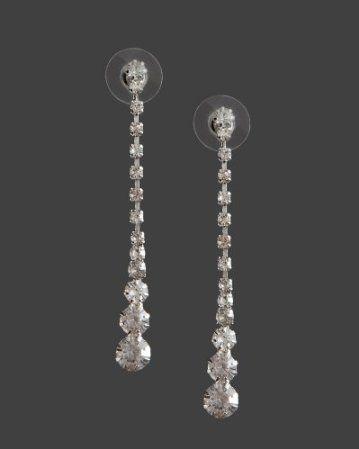 Linear Crystal Drop Earring
