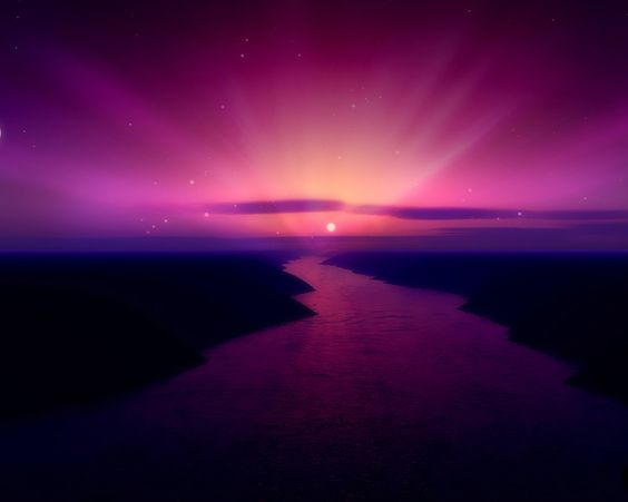 Photo Wallpaper High Quality Wallpaper Beach Scenery: Purple Fantasy Landscape Wallpaper Desktop Background
