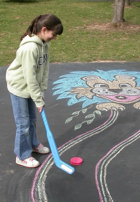 Create your own mini golf course with Crayola chalk this spring.