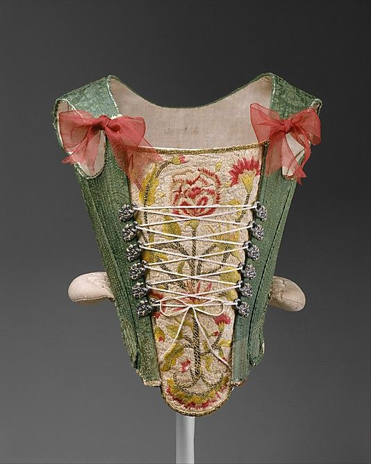 Corset  Date: third quarter 18th century Culture: Spanish (probably) Medium: silk