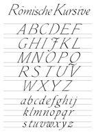 Kalligraphie-Alphabet Roemische Kursive