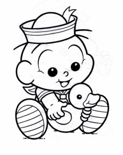 Cebolinha Bebe Vestido De Marinheiro Arte Bebe Desenhos