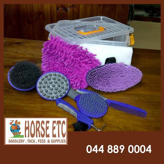 This weeks featured product is our horse grooming and care kit from Horse ETC. Make sure your horse is well kept with all the items that you will need to brush, wash and clean them with. Order your kit today by contacting our offices. #equestriangrooming #horsecare
