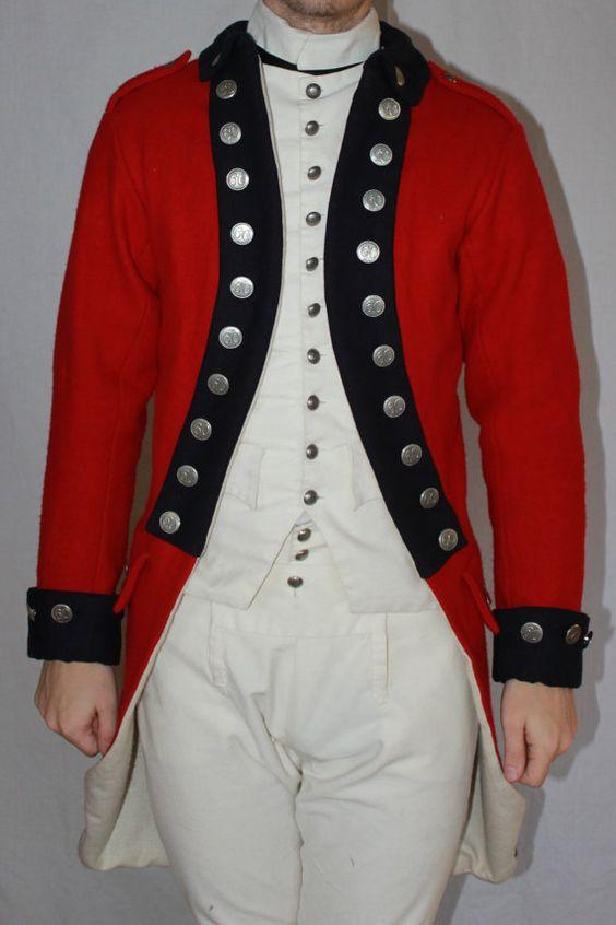 British Redcoat Uniform Jacket 1770s | 18th Century Costuming